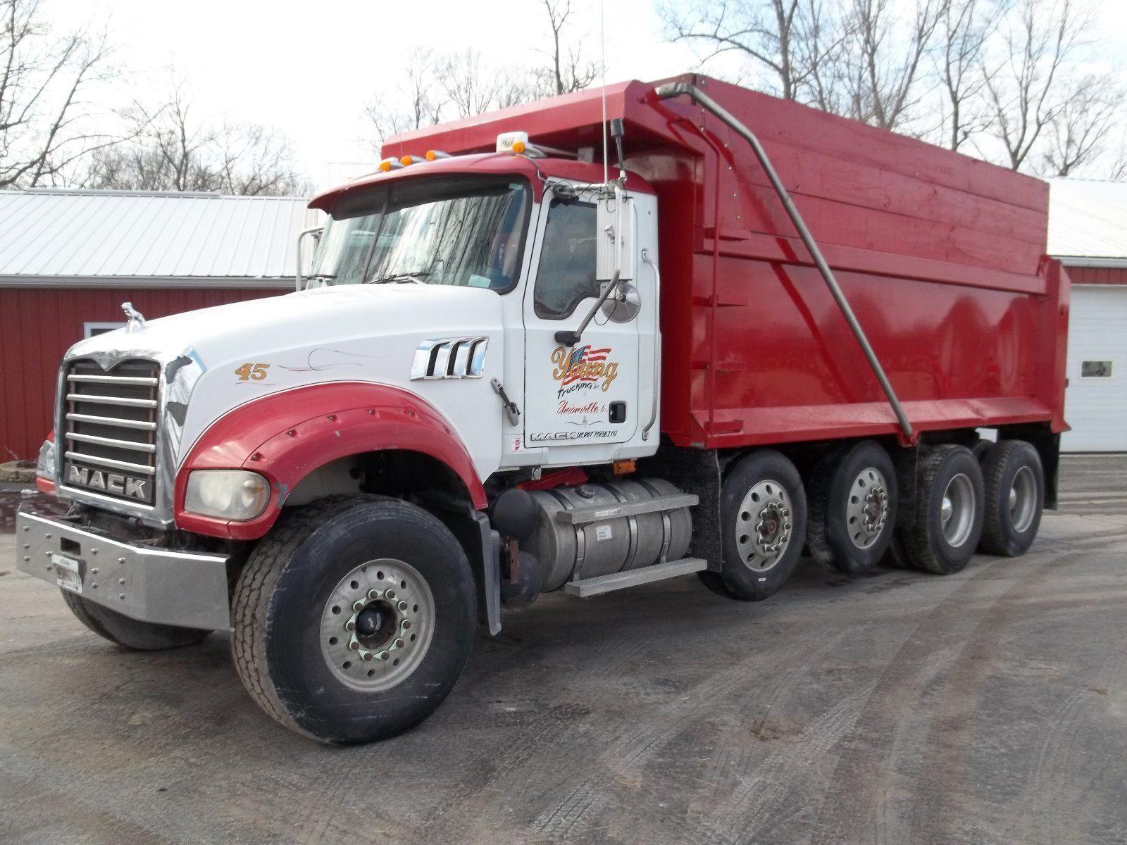 Mack Quad Dump Trucks : Mack gu granite quad axle dump truck for sale