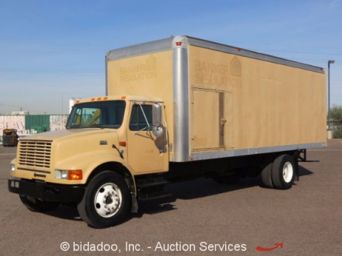 1999 International 4700 Box Cargo Van Truck for sale