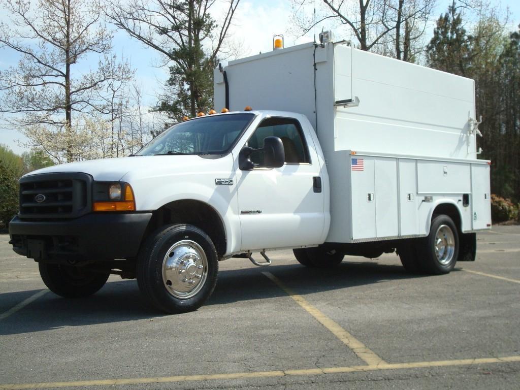 2000 Ford F 550 Super Duty Utility Service Truck