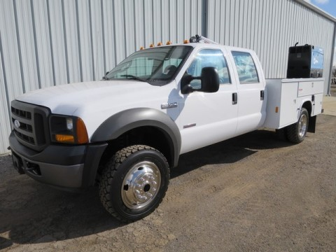 2005 Ford Super Duty F 550 XL Crewcab Utility Service Crane Welder for sale