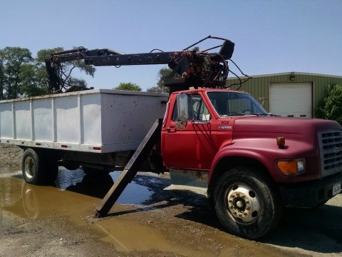 1997 Ford F550 Log/Boom Truck for sale