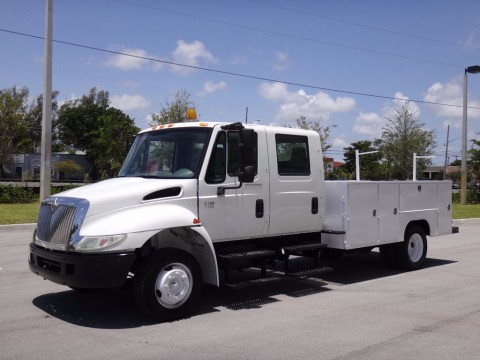 2003 International 4200 Vt365 Service Body Crew Cab Truck for sale