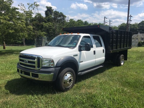 2005 Ford 4WD Crew Cab Dump Stake Body for sale