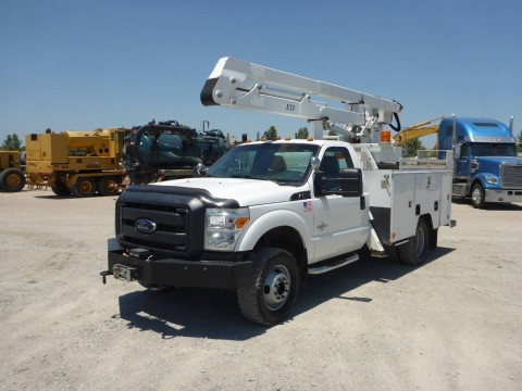 2012 FORD F350 4X4 Bucket BOOM Truck DIESEL truck for sale