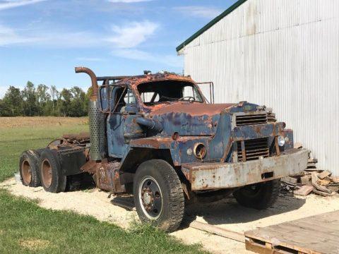 needs restoration 1958 Mack B83SX truck for sale