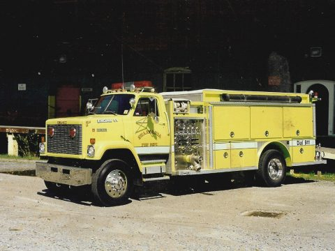 fire pumper 1985 GMC Brigadier truck for sale