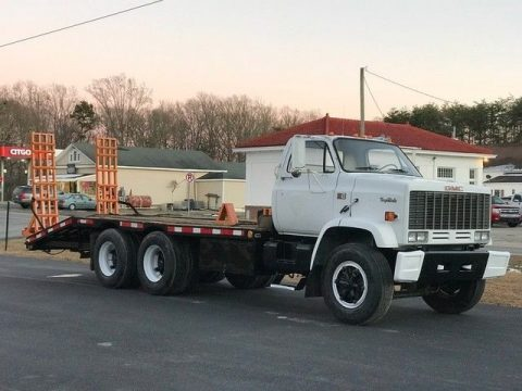 low miles 1989 GMC 7000 Equipment Hauler truck for sale