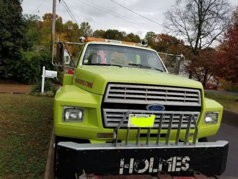 new fluids 1988 Ford F 700 heavy wrecker truck for sale