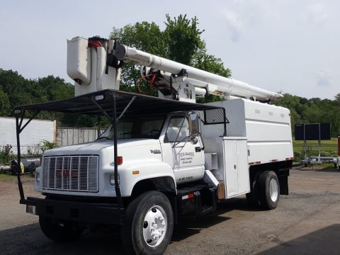 big block 1996 GMC bucket truck for sale