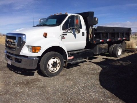 low miles 2015 Ford F650 dump truck for sale