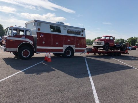converted to RV 1976 Ford C800 fire truck for sale