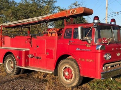 original 1959 Ford C850 fire truck for sale
