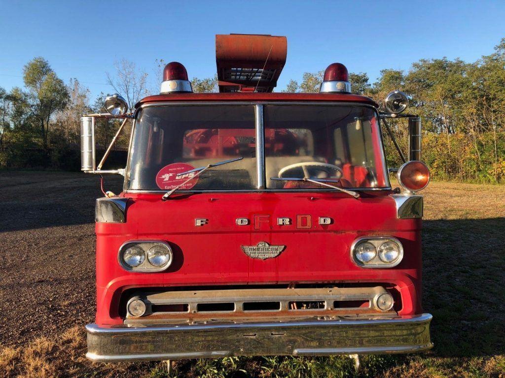 original 1959 Ford C850 fire truck