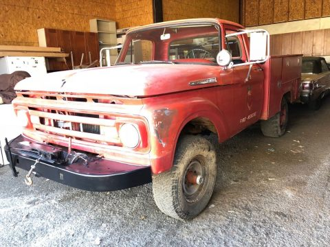 rare 1961 Ford F250 4X4 fire truck for sale