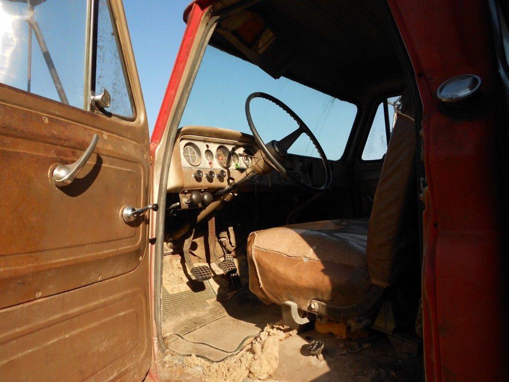 solid 1966 GMC C60 dump truck