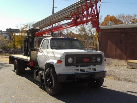removable crane 1986 Chevrolet c70 truck for sale