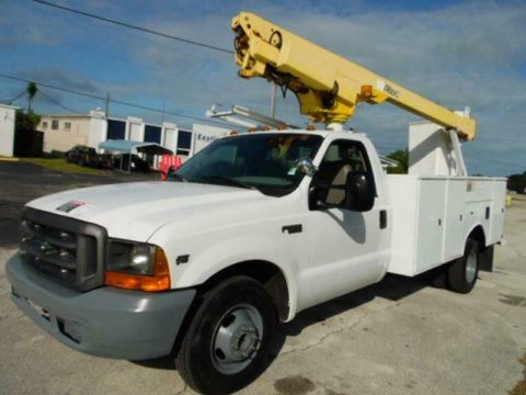 very clean 1999 Ford F 350 Super Duty bucket boom truck for sale