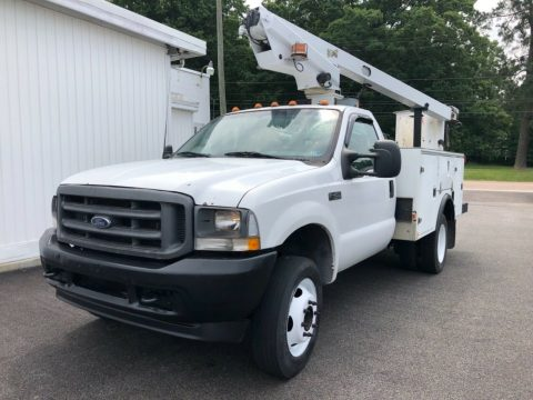 great working 2002 Ford F 450 bucket boom truck for sale