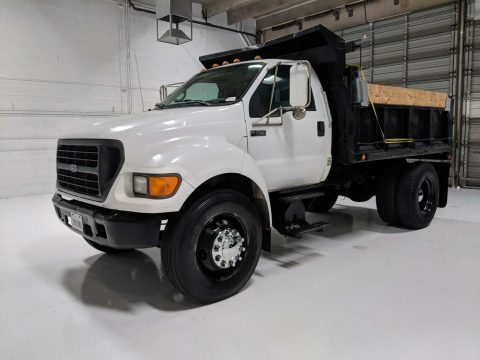 low mileage 2000 Ford F 650 Dump Truck for sale