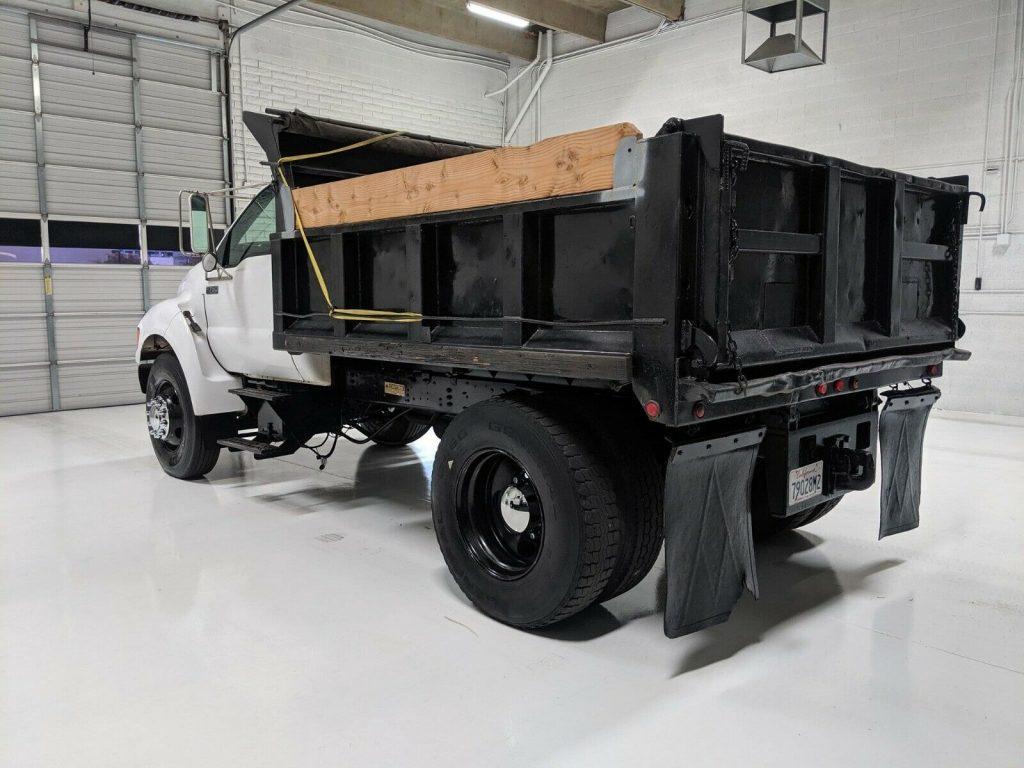 low mileage 2000 Ford F 650 Dump Truck
