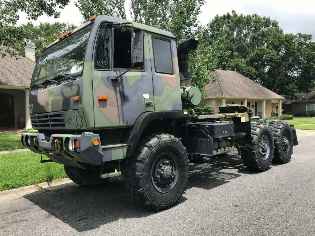 perfect solid 2001 Stewart & Stevenson 6WD 5 Ton Semi Truck