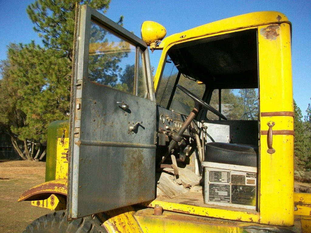 former snow blower 1959 Oshkosh W 1700 truck