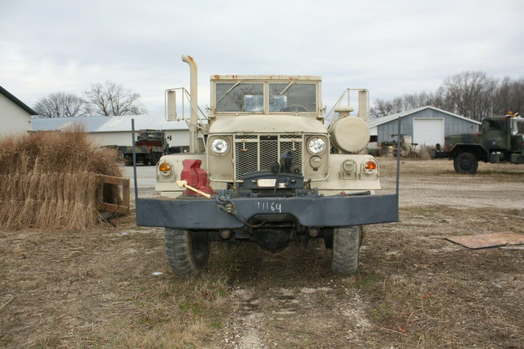 strong 1971 AM General wrecker military truck