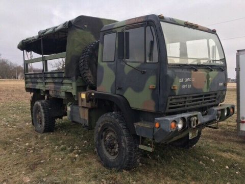 great running 1994 Stewart & Stevenson M1078 LMTV 2 1/2 Ton military truck for sale
