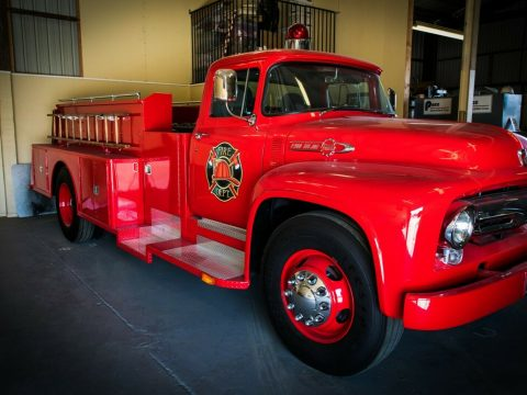 customized 1956 Ford F900 Big Job fire truck for sale