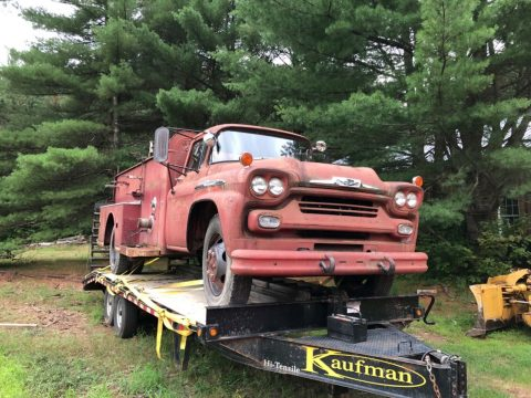 solid 1958 Chevrolet Viking 60 Fire Truck for sale
