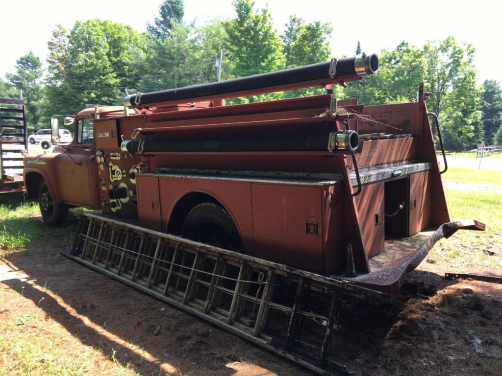 solid 1958 Chevrolet Viking 60 Fire Truck