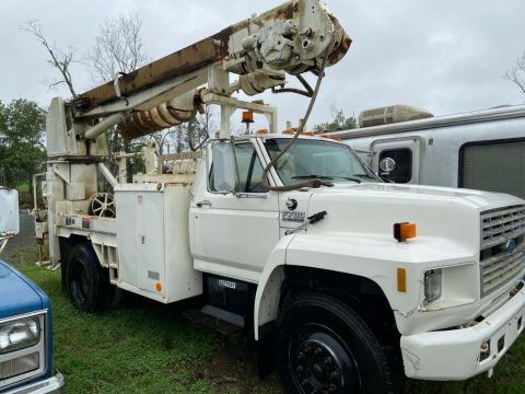 low miles 1988 Ford F 700 Auger Truck for sale